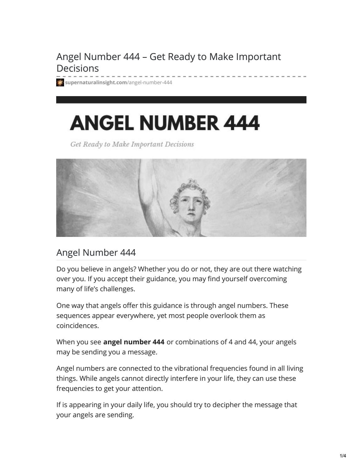 Angel Number 444 by Adena Adams - issuu