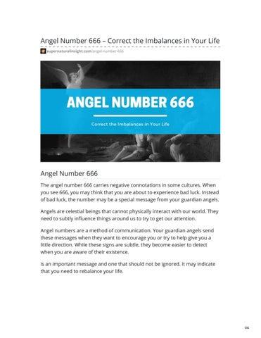 Angel Number 666 by Adena Adams - issuu