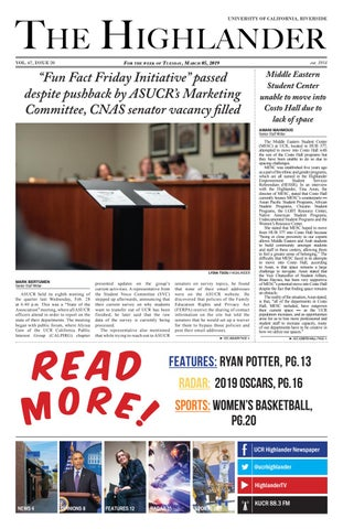 huge selection of 1cdcd e024a Volume 67 Issue 20 by UCR Highlander Newspaper - issuu