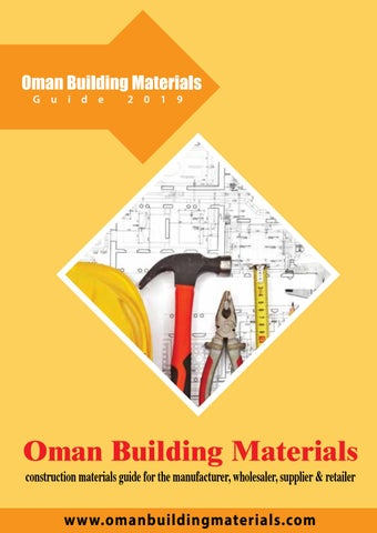Oman Building Materials 2019 Edition by IBN AHMED UNITED ENTERPRISES