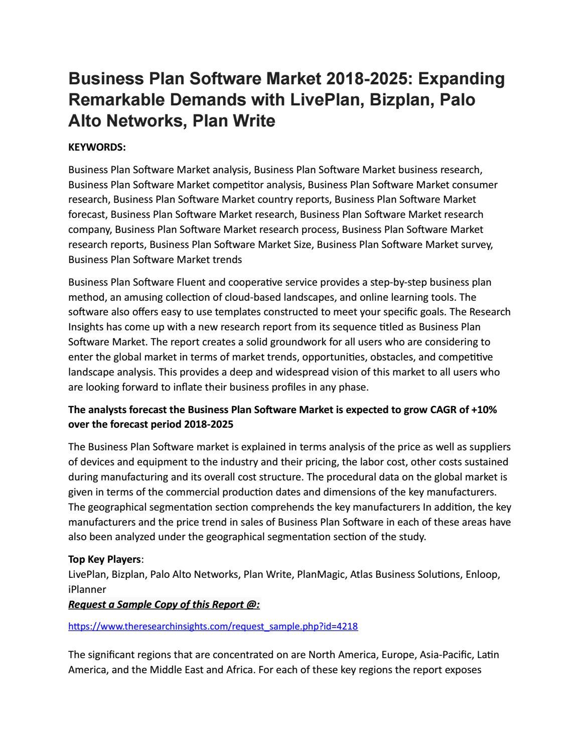 business plan market analysis research