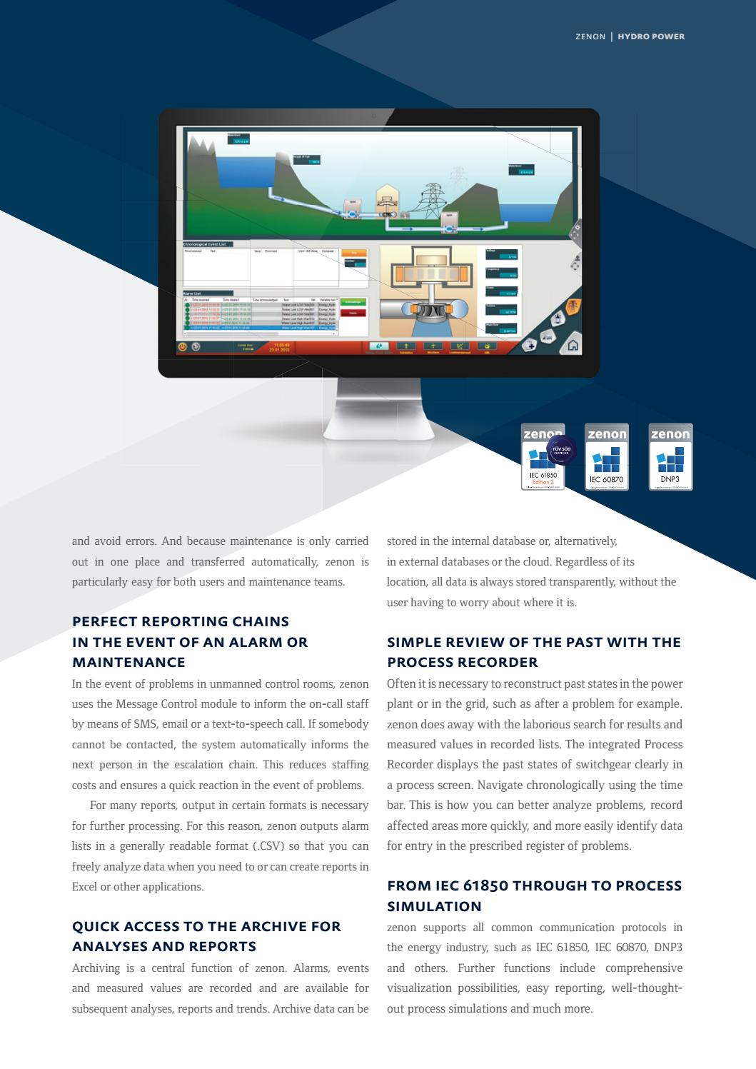 zenon – Use in Hydro-Electric Power Plants by COPA-DATA - issuu