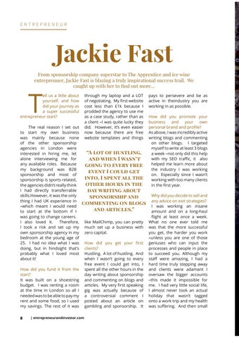 Page 8 of Female Founders section in Issue 12