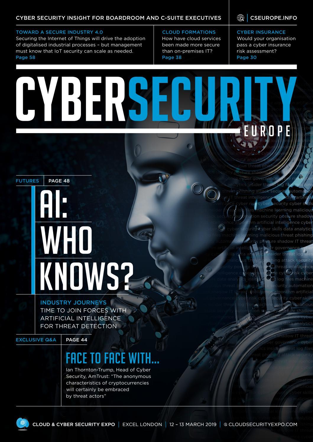 Cyber Security Europe - Spring 2019 by worldshowmedia - issuu