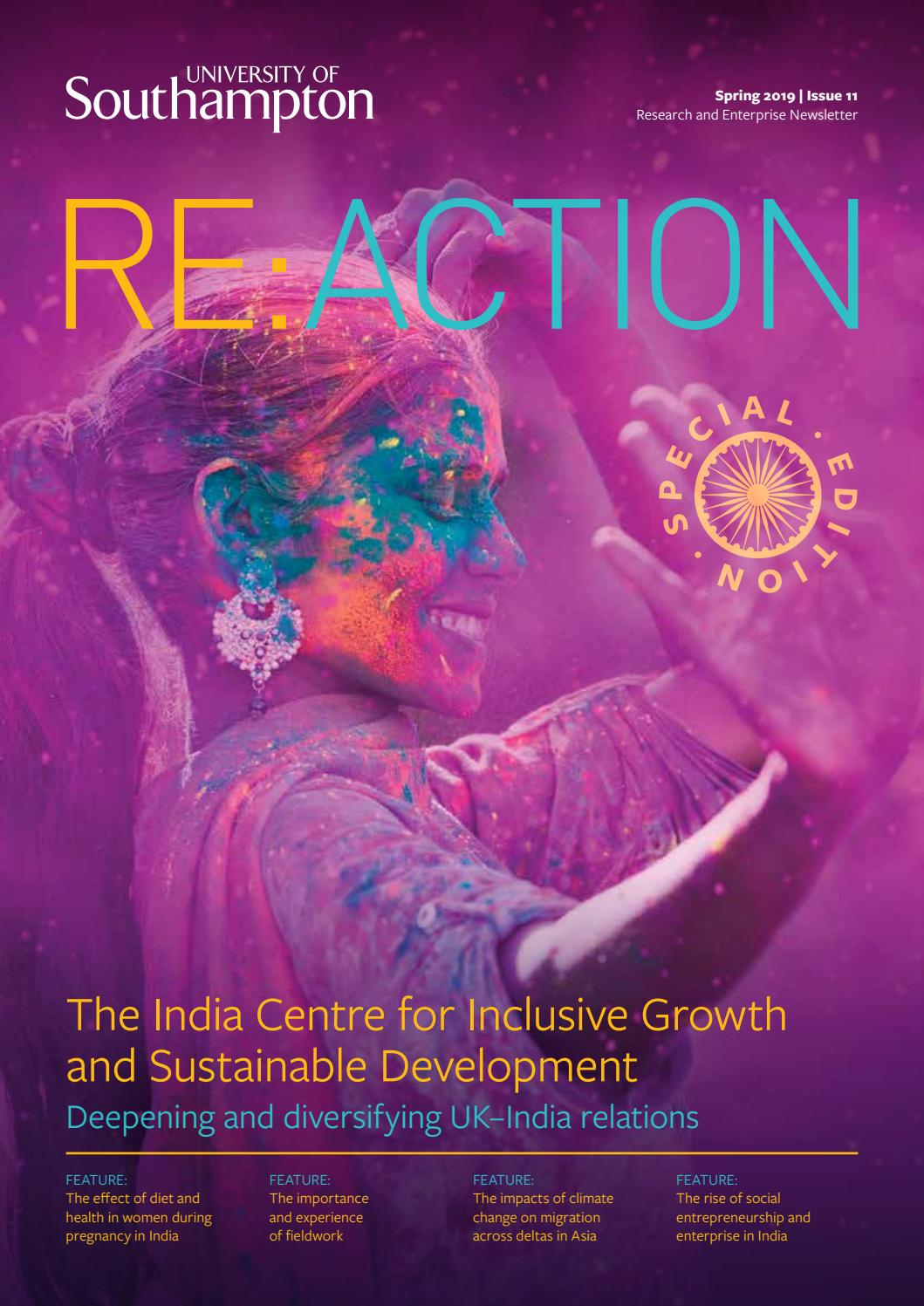 Re:action - Spring 2019 by University of Southampton - issuu