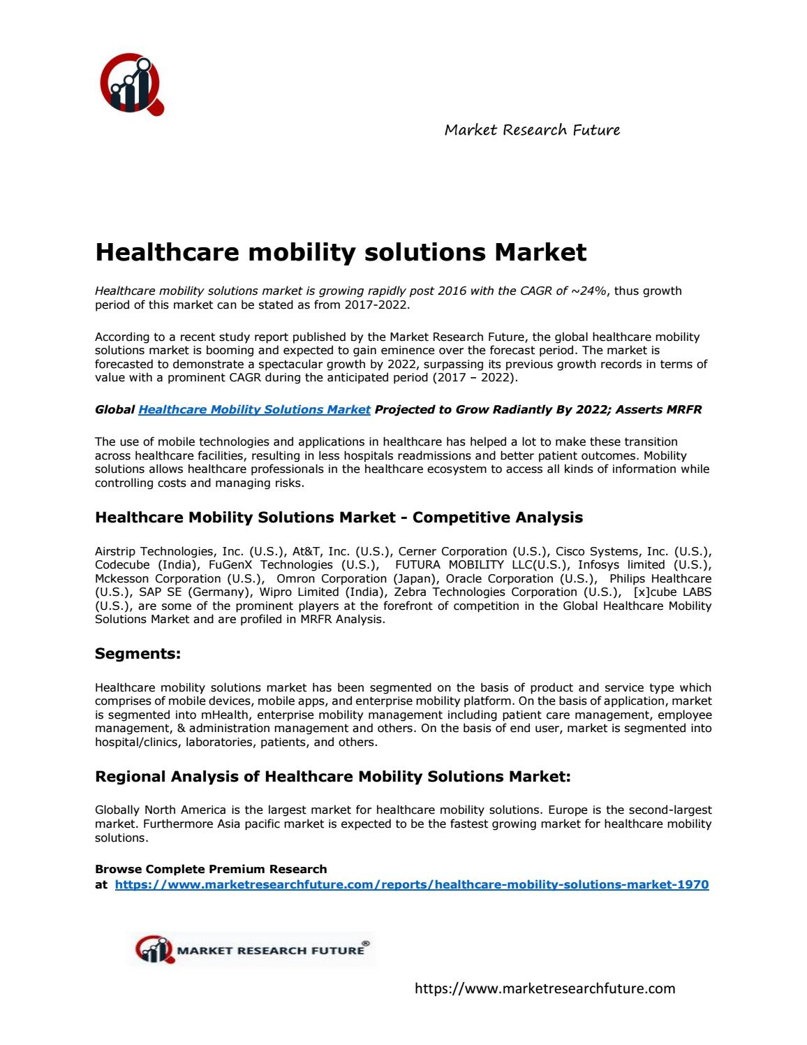 Healthcare Mobility Solutions Market Research Report