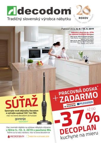 83bf806d28ea Tradičný slovenský výrobca nábytku Platnosť akcie  6. 3. - 14. 4. 2019  Výhodná zľava až do -37% na vybrané kuchyne decoplan Zľava až do -37% na  kuchyne ...