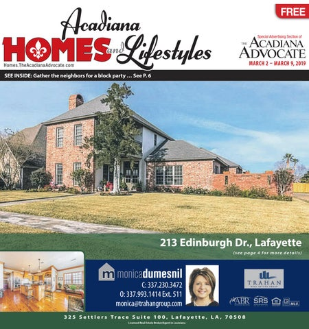 acadiana homes lifestyles march 2 2019 by the advocate issuu rh issuu com