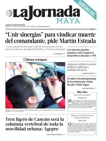 de95f00ba51a2 La Jornada Maya · lunes 4 de marzo de 2019 by La Jornada Maya - issuu