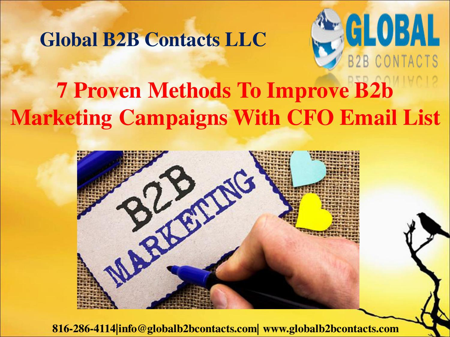 7 Proven Methods To Improve B2b Marketing Campaigns With CFO Email