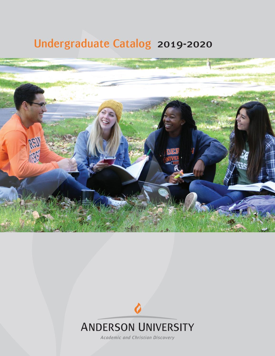 Carnegie Mellon Academic Calendar 2020-21 Anderson University Undergraduate Catalog 2019 20 by Anderson