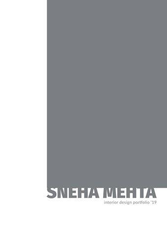 Sneha Mehta // Interior Design Portfolio '19 by Sneha Mehta - issuu