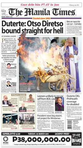f766be0ce THE MANILA TIMES | MARCH 05, 2019 by The Manila Times - issuu