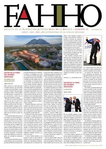 f159a3238c0d Boletín FAHHO mar - abr 2019 by Fundación Alfredo Harp Helú Oaxaca ...