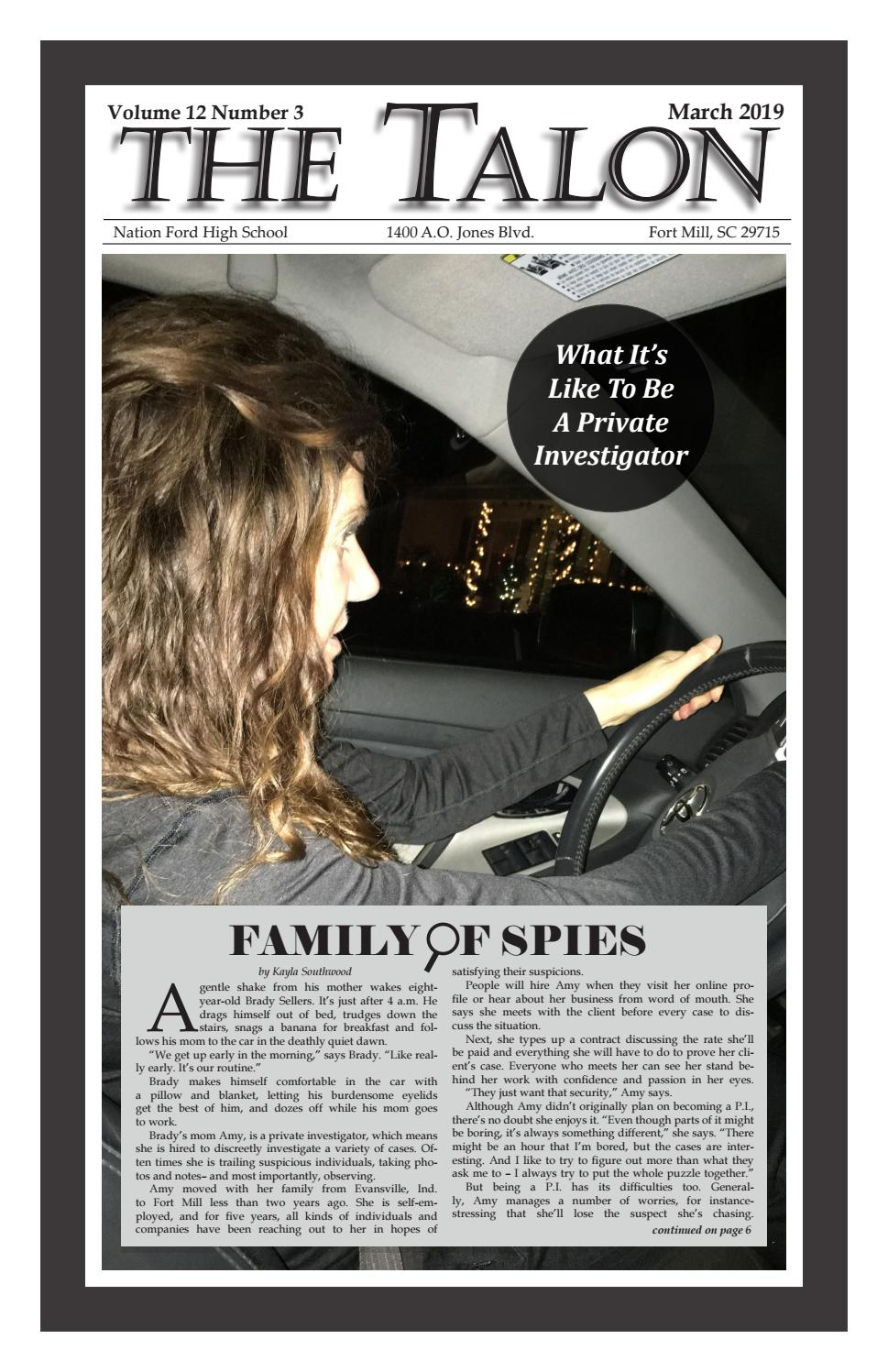 The Talon Vol  12 Issue 3 Nation Ford High School by Beth