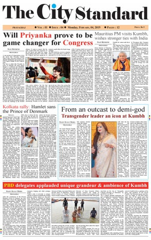 The City Standard February 4th, 2019- 4th issue by Sandeep Mitra - issuu