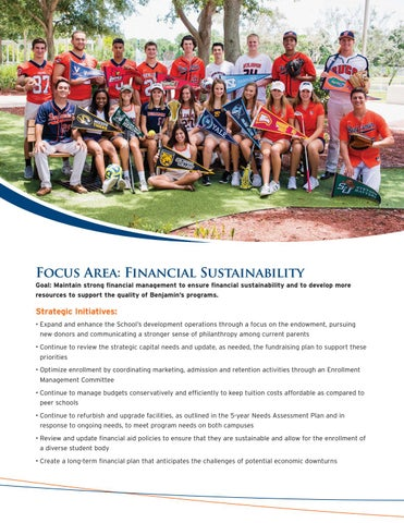 Page 7 of The Benjamin School Focus: Financial Sustainability