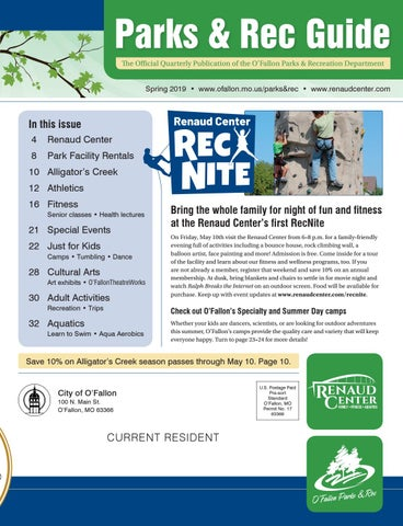 O'Fallon Parks and Rec Guide - Spring 2019 by City of O'Fallon - issuu