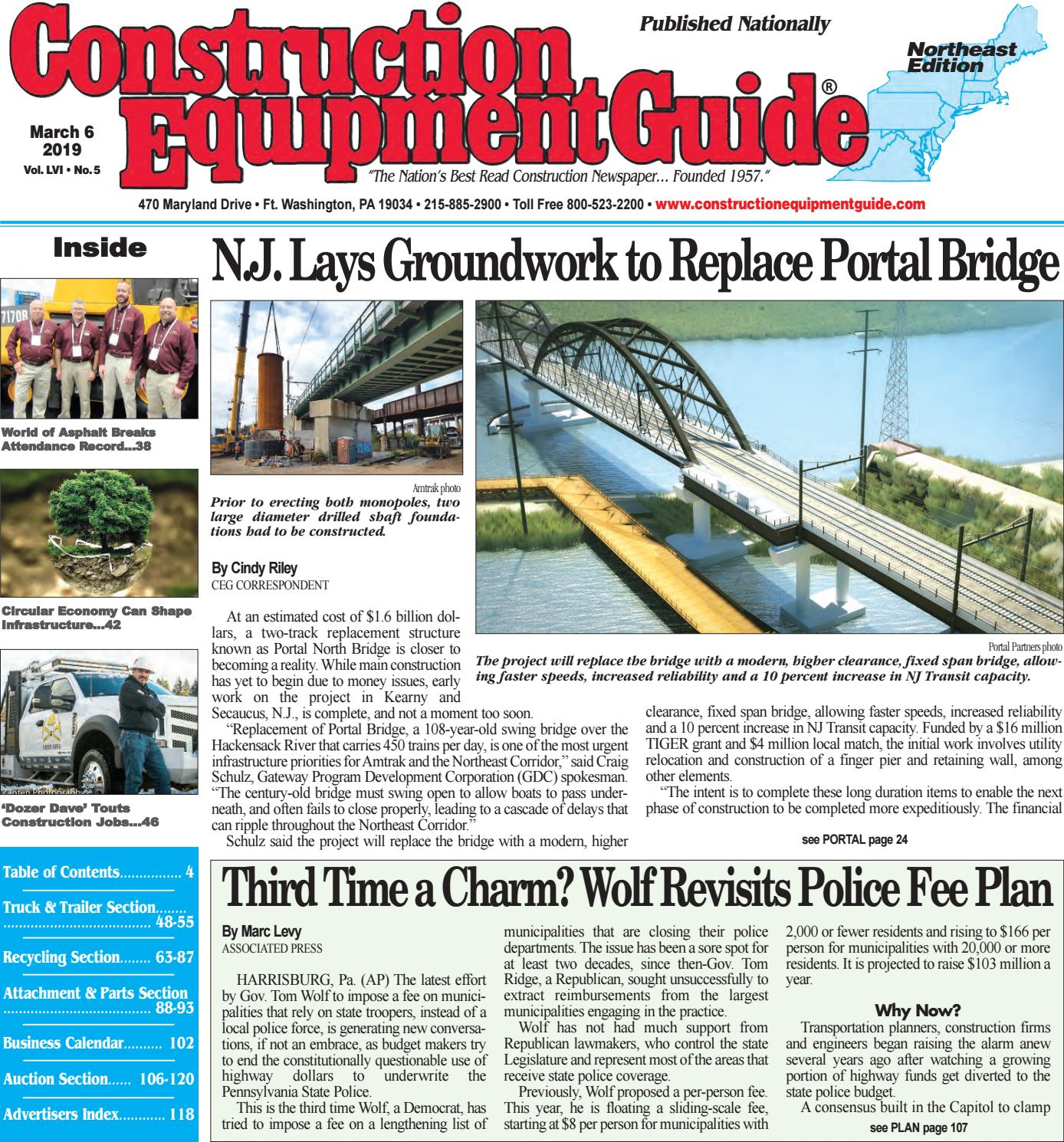 Northeast 5 March 6, 2019 by Construction Equipment Guide