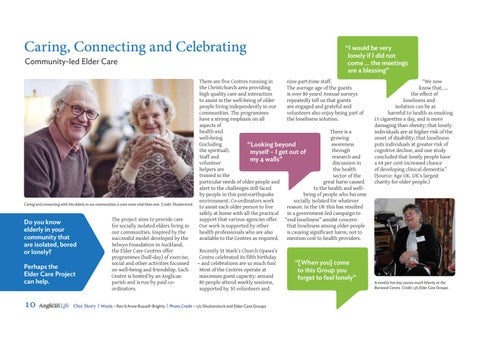 Page 12 of Caring, Connecting and Celebrating