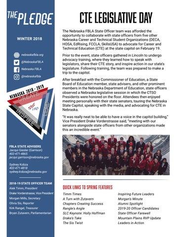Spring 2019 Pledge by Nebraska FBLA - issuu