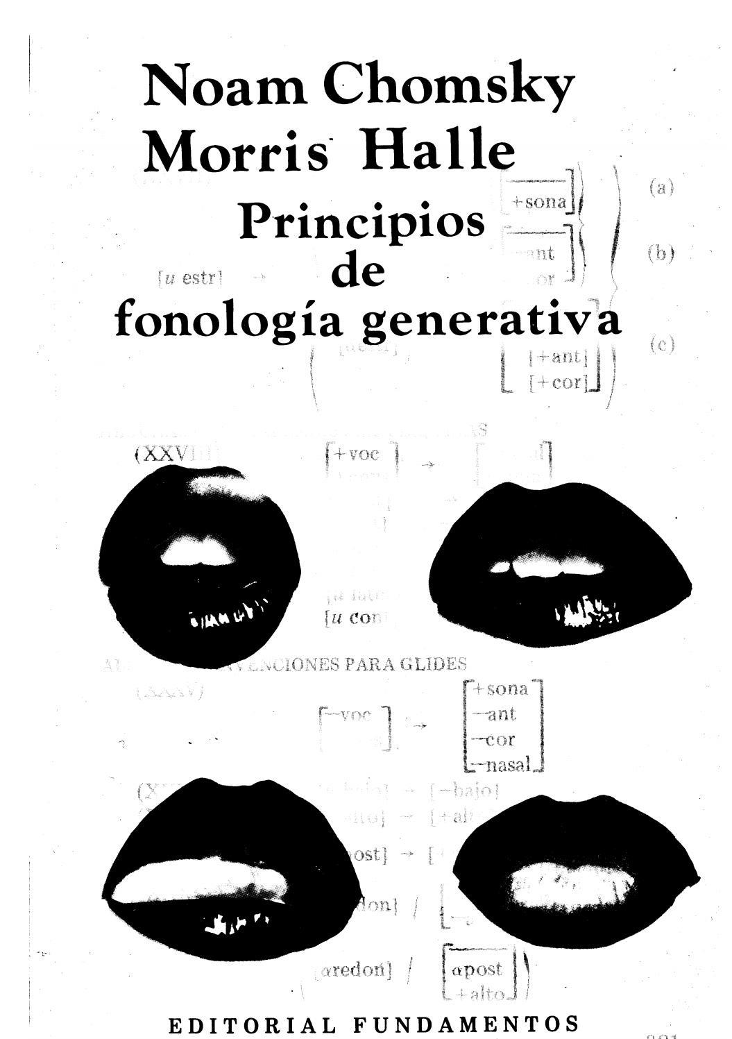 CHOMSKY Pincipios de fonologia generativa linguistica
