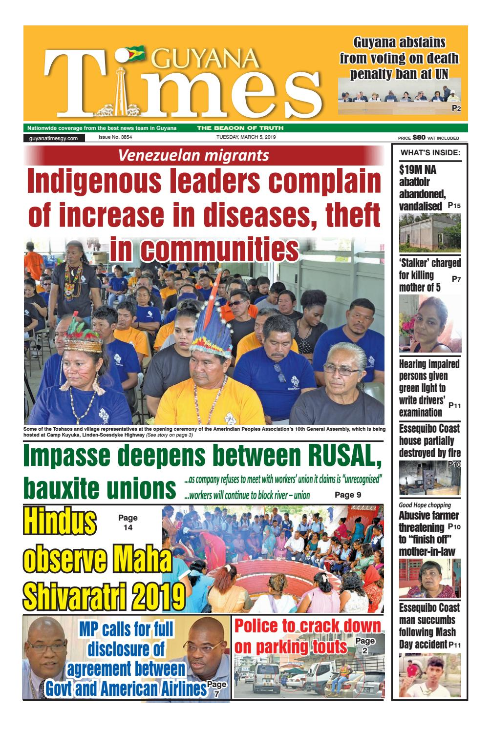 Guyana Times - Tuesday, March 5, 2019 by Gytimes - issuu