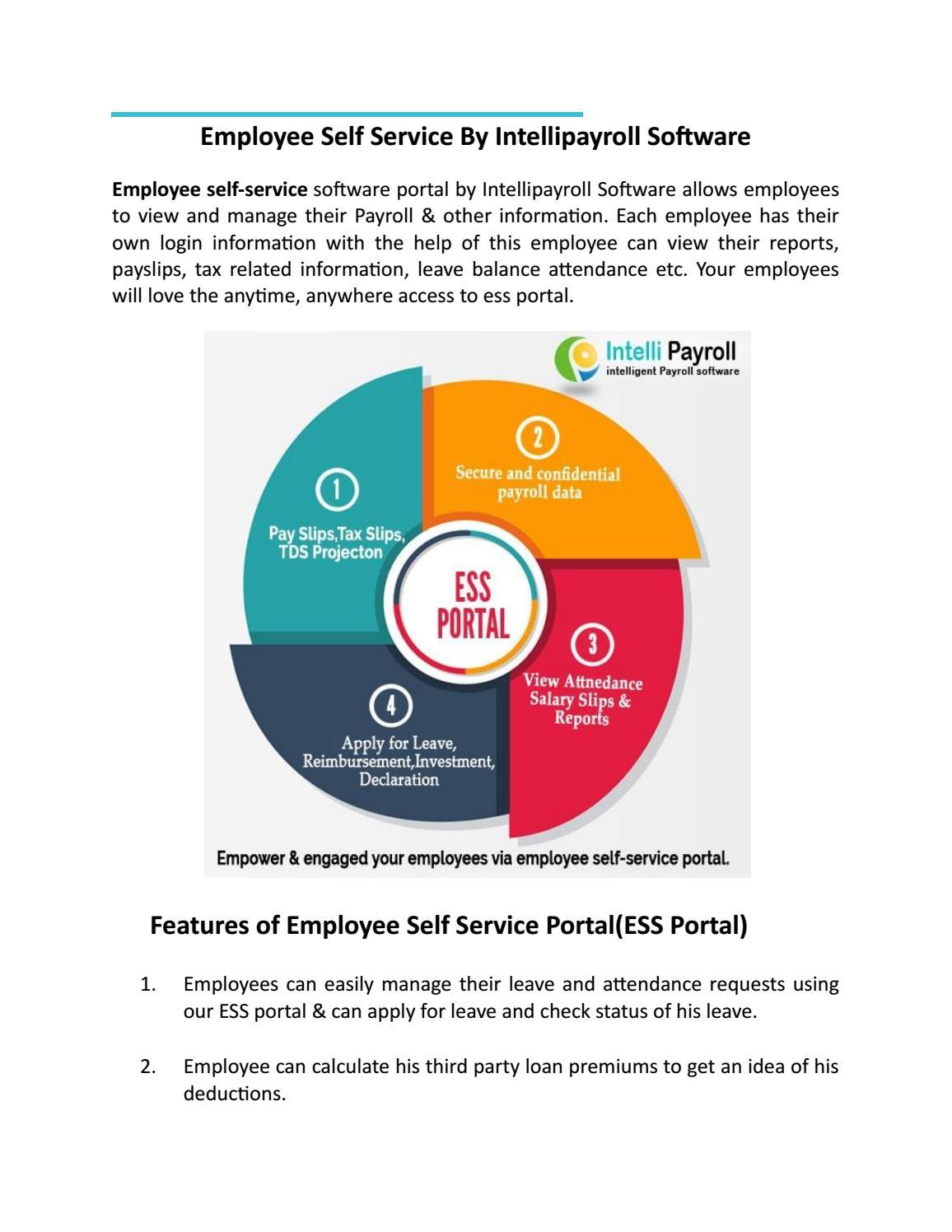 Employee Self Service Portal by proditech12 - issuu