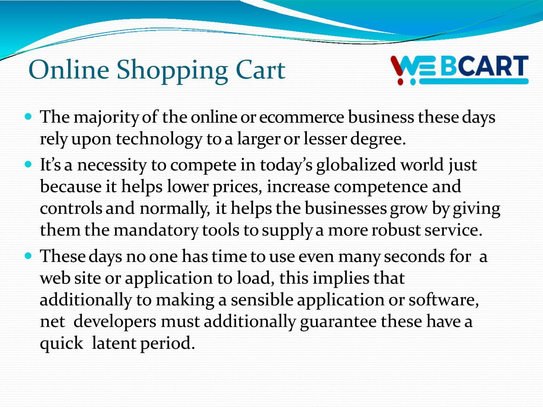 Online Shopping Cart Software at Web Cart! by webcartkota