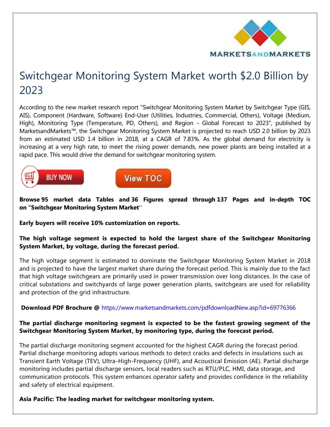 Switchgear Monitoring System Market worth $2 0 Billion by 2023 by