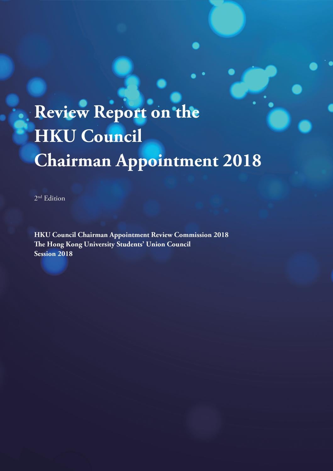 Review Report on the HKU Council Chairman Appointment 2018