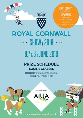 royal cornwall show equine schedule 2019 by event