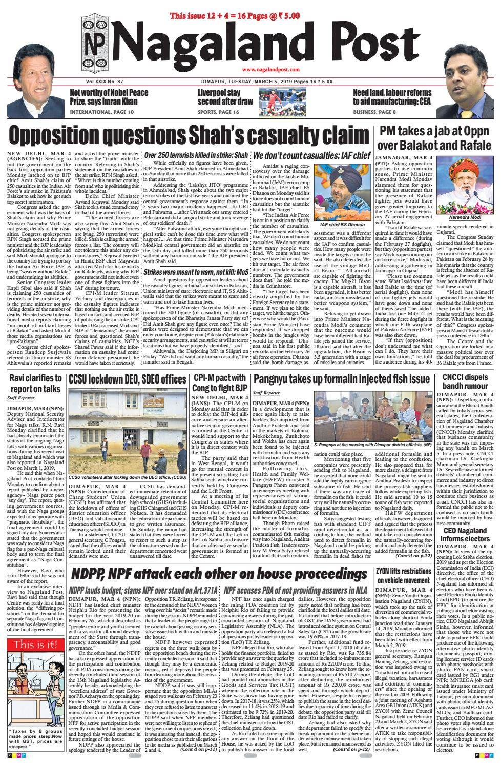 March 5, 2019 by Nagalandpost com - issuu