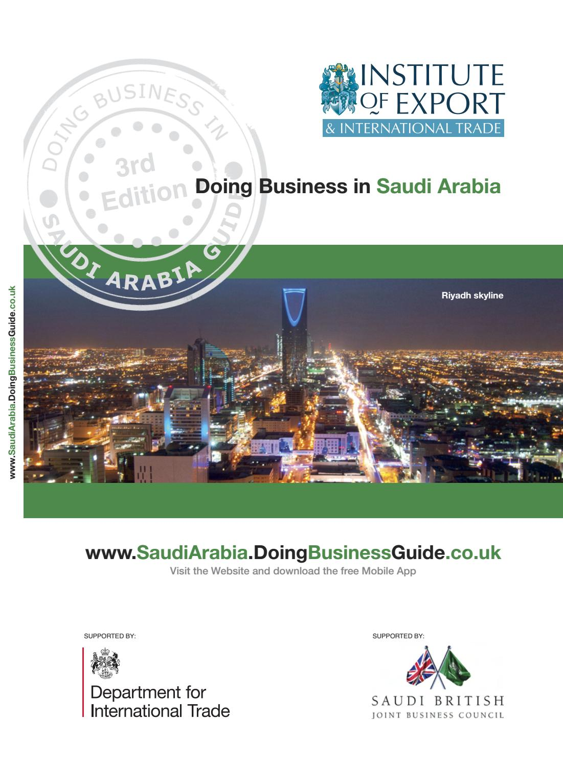 Doing Business in Saudi Arabia Guide (3rd Edition) by Doing Business