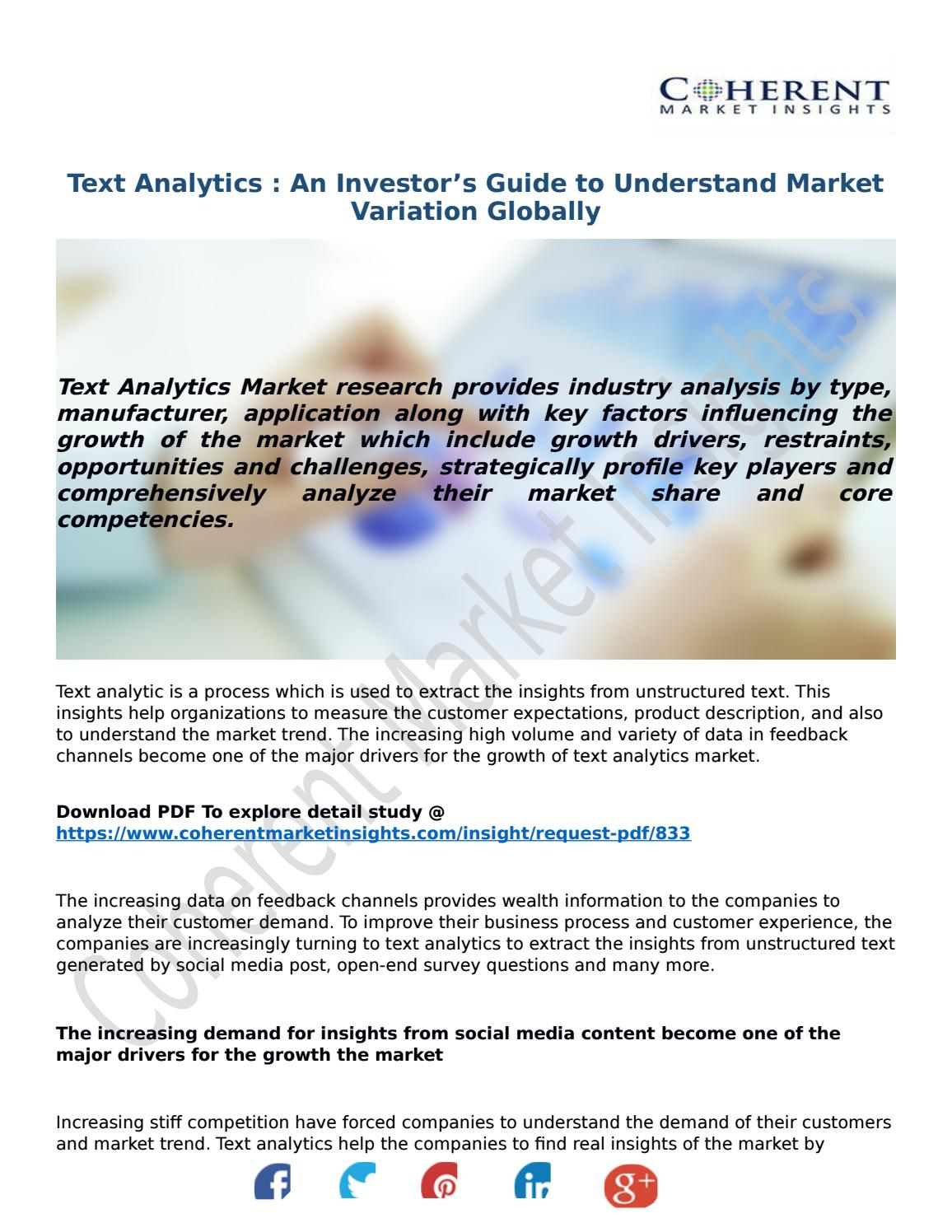 Text Analytics : An Investor's Guide to Understand Market