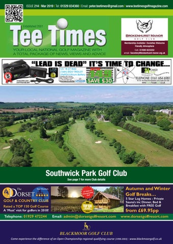 44cb7f31906 Tee Times Golf Magazine, March 2019 by Tee Times Golf Magazines - issuu