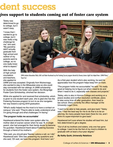 Page 3 of Fostering Student Success: Program gives support to students coming out of foster care system