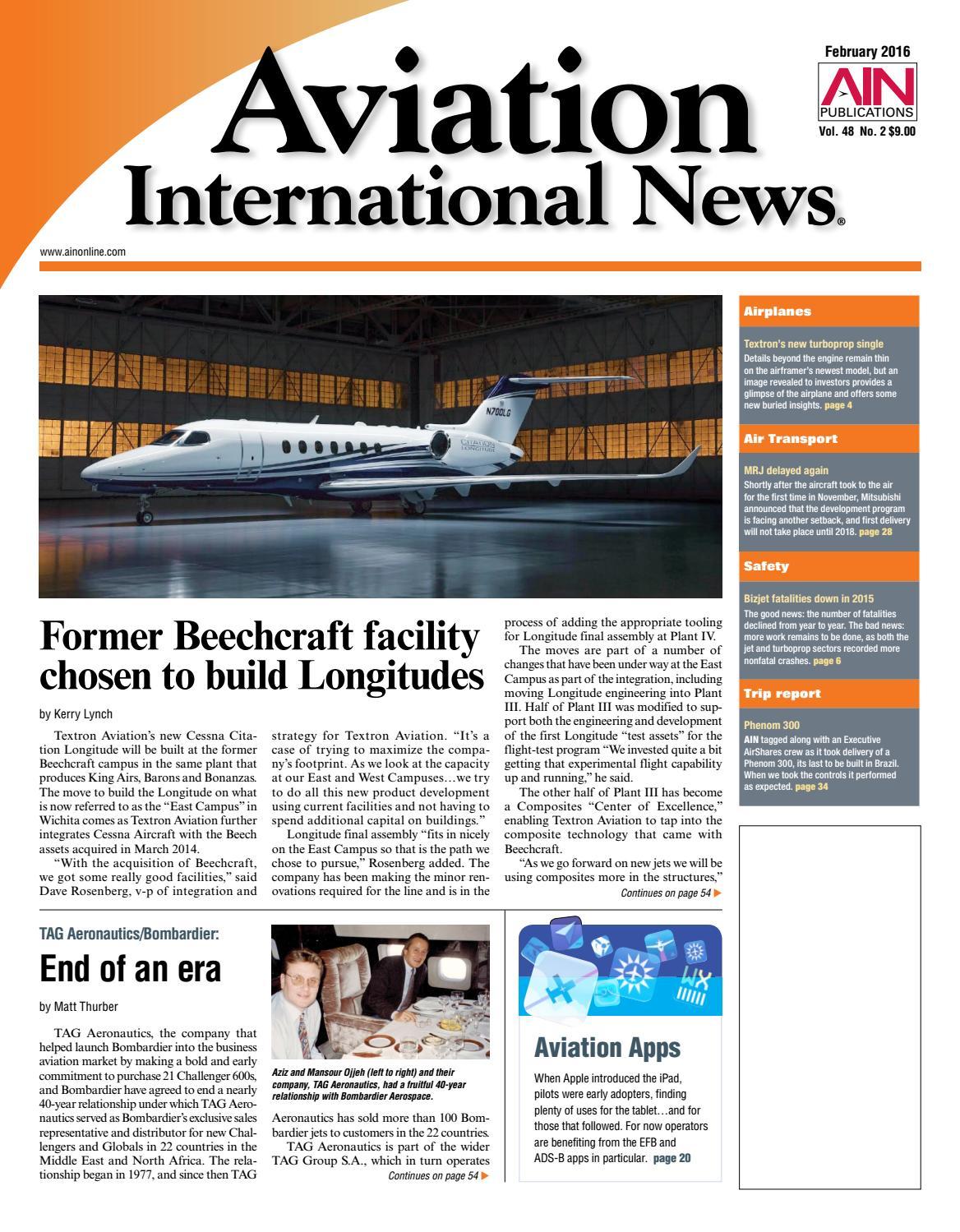 Aviation International News February 2016