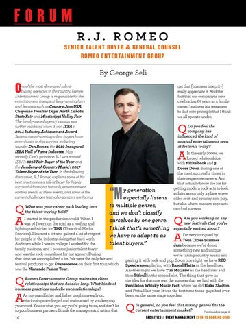Page 18 of FORUM: CHAT WITH ROMEO ENTERTAINMENT GROUP'S R.J. ROMEO