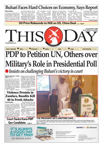 TUESDAY 5TH MARCH 2019 by THISDAY Newspapers Ltd - issuu