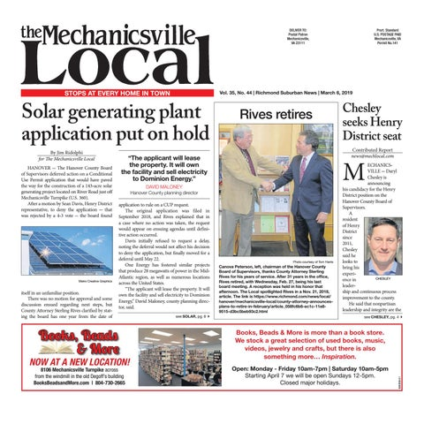 03/06/19 by The Mechanicsville Local - issuu