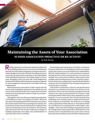 Page 34 of Maintaining the Assets of Your Association  Is Your Association Proactive Or Re-active? By Rob Winkle