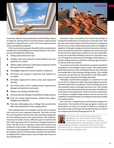 Page 35 of Maintaining the Assets of Your Association  Is Your Association Proactive Or Re-active? By Rob Winkle