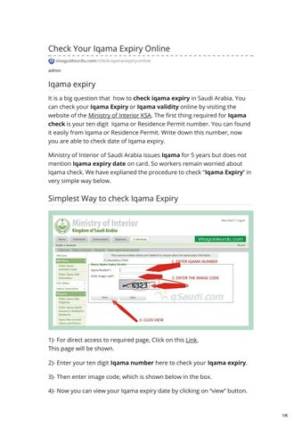 Check Your Iqama Expiry Online by Rana Shaukat - issuu