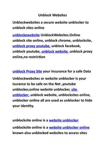 website unblocker proxy video