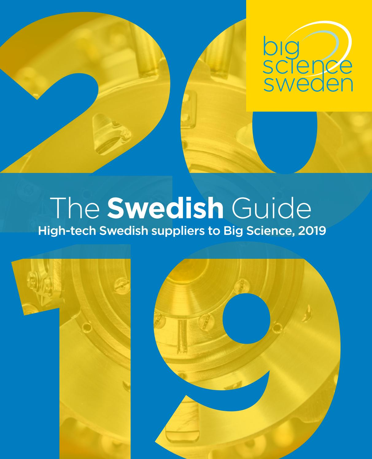 The Swedish Guide 2019, High-tech Swedish suppliers to Big