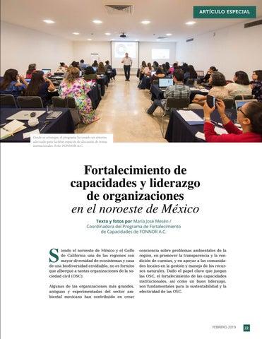 Page 23 of Fortalecimiento de capacidades y liderazgo de organizaciones