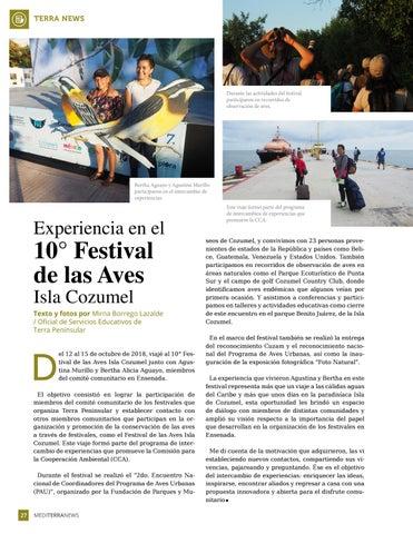 Page 28 of Experiencia en el 10 Festival de las Aves Isla Cozumel