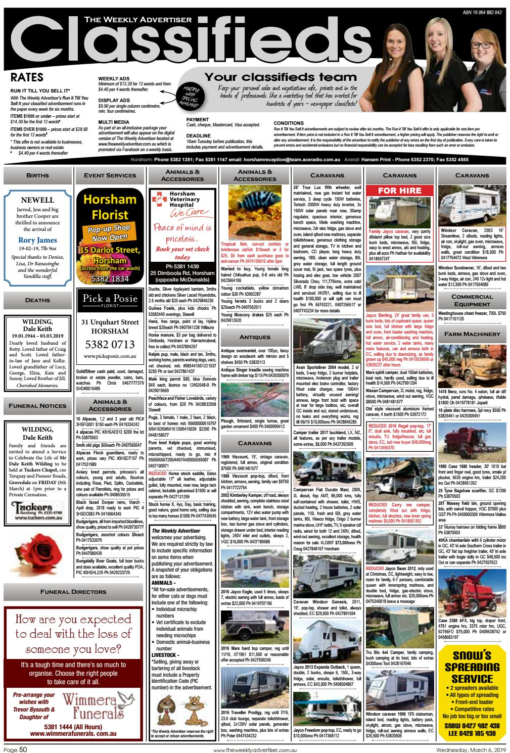 The Weekly Advertiser - Wednesday, March 6, 2019