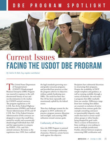 Page 25 of Current Issues Facing the DBE Program